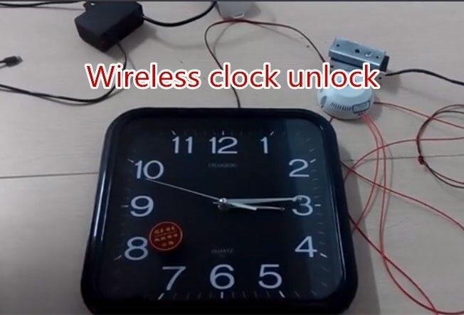 Horloge sans fil débloquer la vraie vie évasion salle évasion serrure accessoires jeu d'horreur produits takagisme jeu évasion salle jeu
