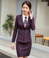 High Quality Fabric Uniform Styles Formal Business Suits With Jackets And Skirt For Ladies Work Wear Female Blazers Suits Wine