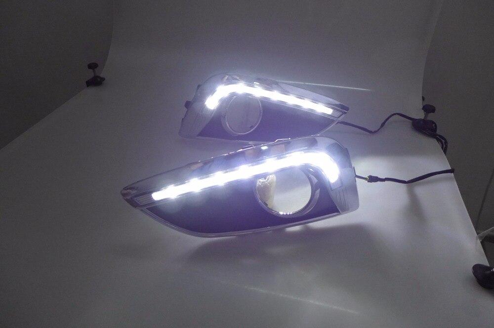 Qirun led drl daytime running light for Hyundai IX35 2010-2013 with wireless control led drl daytime running light for mg3 mg 3 2010 13