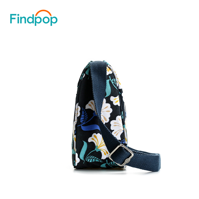 Casual Sling Crossbody Bags For Women Waterproof Small Messenger Bags Fashion Canvas Floral Printing Crossbody Bags 3