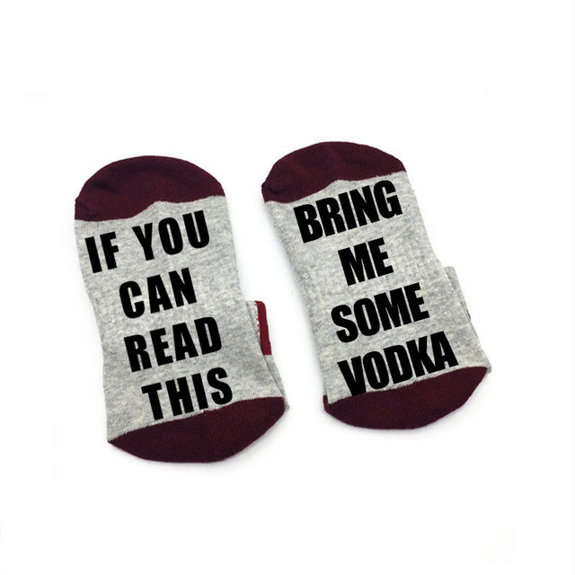 Wine Socks If You Can Read This bring me some vodka Men Women cotton Socks W0011