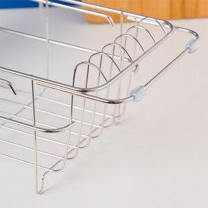 Image 4 - ORZ, расширяемая сушилка для посуды, кухонный держатель для хранения, раковина, слив, миска, посуда, сушилка, полка для дома, кухня, организатор утвари