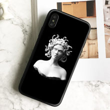 Medusa Plaster statue Art Tpu Soft Silicone Phone Case Cover Shell For Apple iPhone 5 5s Se 6 6s 7 8 Plus X XR XS MAX(China)