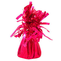 FBIL 6pcs Tassel Aluminum Foil Balloon Weights Pendant Birthdays Weddings Christening Party Rose Red