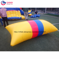 Summer play exciting game durable inflatable water blob jumping games lake inflatable water catapult blob