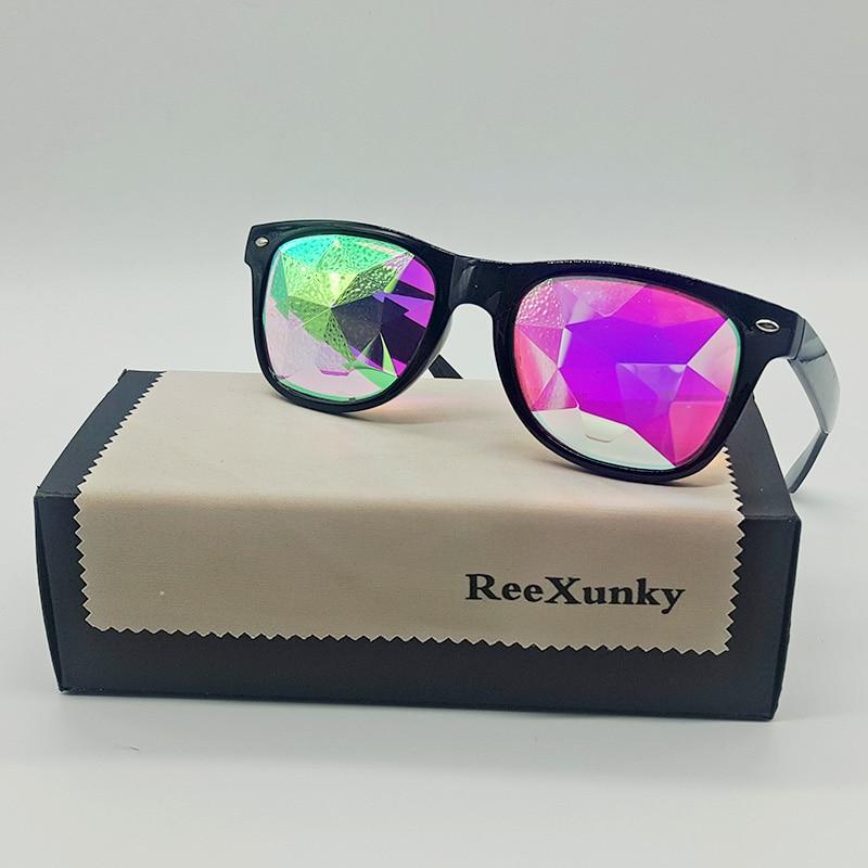 Party Kaleidoscope Glasses For Women Men Rave Festival EDM Futuristic Sunglasses Diffracted Lens Retro Kaleidoscope Eyewear Top