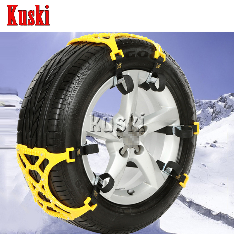 6X Car Snow Tire Anti-skid Chains For Hyundai Solaris Tucson 2016 I30 IX35 I20 Accent Santa Fe For Lada Granta Kalina Priora 6x car snow tire anti skid chains for lexus rx nx gs ct200h gs300 rx350 rx300 for alfa romeo 159 147 156 166 gt mito accessories