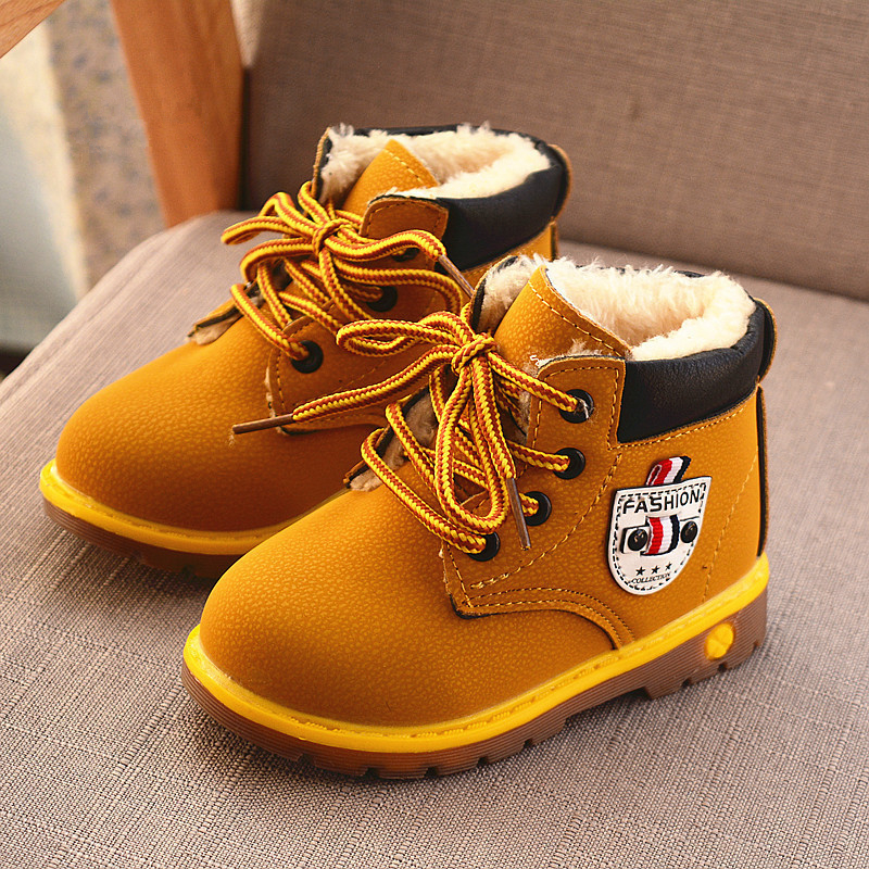 Hot Sale Winter For Child Kids Girls Boys Snow Boots Comfort Thick Antislip Felt Boots Cotton-Padded Short Boots Shoes