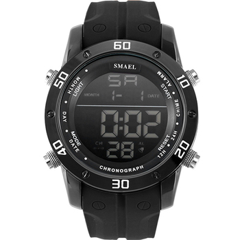 SMAEL Luxury Brand Mens Sports Watches Dive 50m Digital LED Military Watch Men Fashion Casual Electronics Wristwatches Hot Clock 1