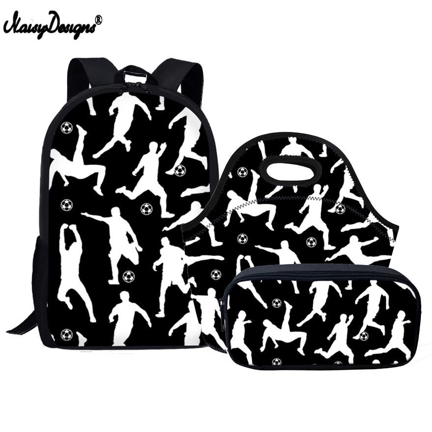 Backpack Children Satchel Foot-Ball School Bags 3 Sets Orthopedic School Backpacks for Children Schoolbag Boys Mochilas Escolar