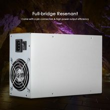 1800W Switching Server Power Supply 90% Professional Mining Machine Power Source for Ethereum S9 S7 L3 Rig Mining 180-260V