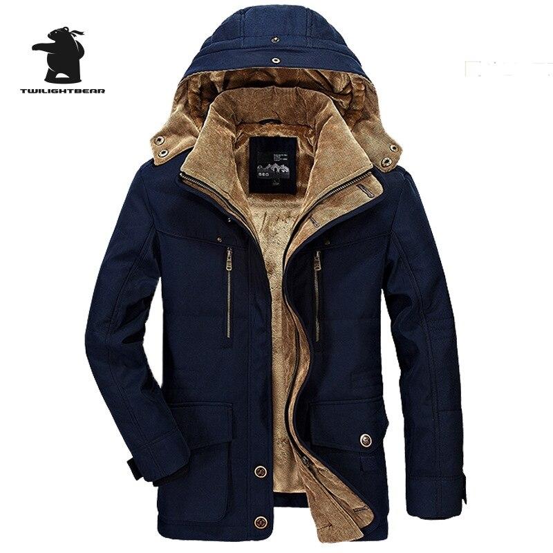 Дизайнерские Для мужчин парки новая мода высокое качество плотным ворсом Повседневное зимняя куртка Для мужчин теплое пальто плюс Размеры ... ...