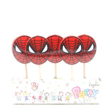 Party Supplies Birthday Candles Cake stuff Spiderman birthday candle
