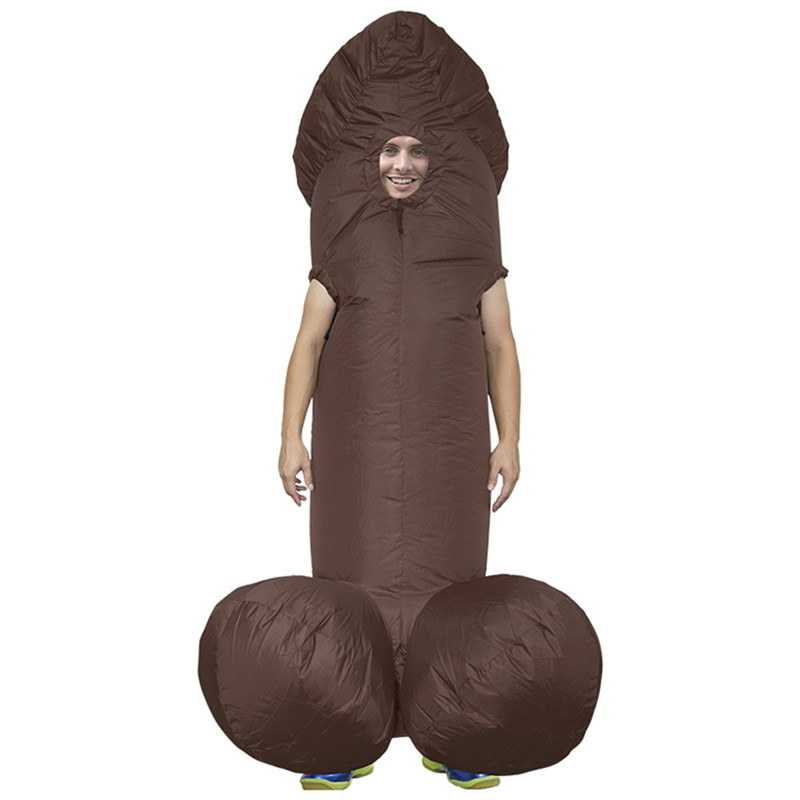 Adult Inflatable Costume Halloween Costumes Suit Penis Cosplay Party Fancy Dress Funny Blow Up Clothing for Men Adults Boys Toys
