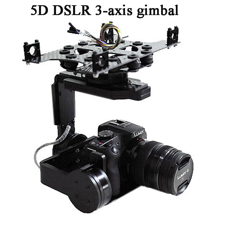 Universal 3 Axis 5D 3D 2 Gimbal PTZ DSLR ILDC Camera Pan Tilt Brushless For FPV Aerial Photography Air Survey - 2