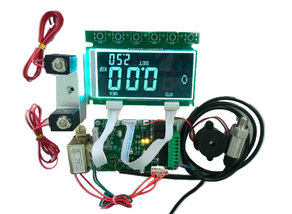 LED Tyre Automatic Inflator Machine PCB controller board with battery valve chetaitai y17101 preset digital tyre inflator