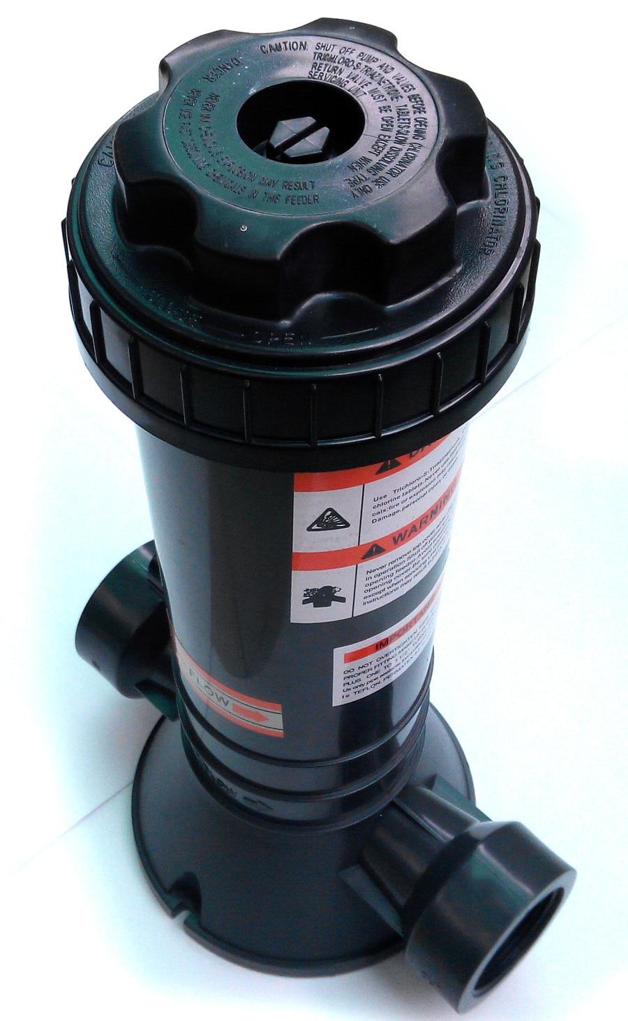 automatic pool in line chlorine feeder pool chemical feeder chlorinate dispenser