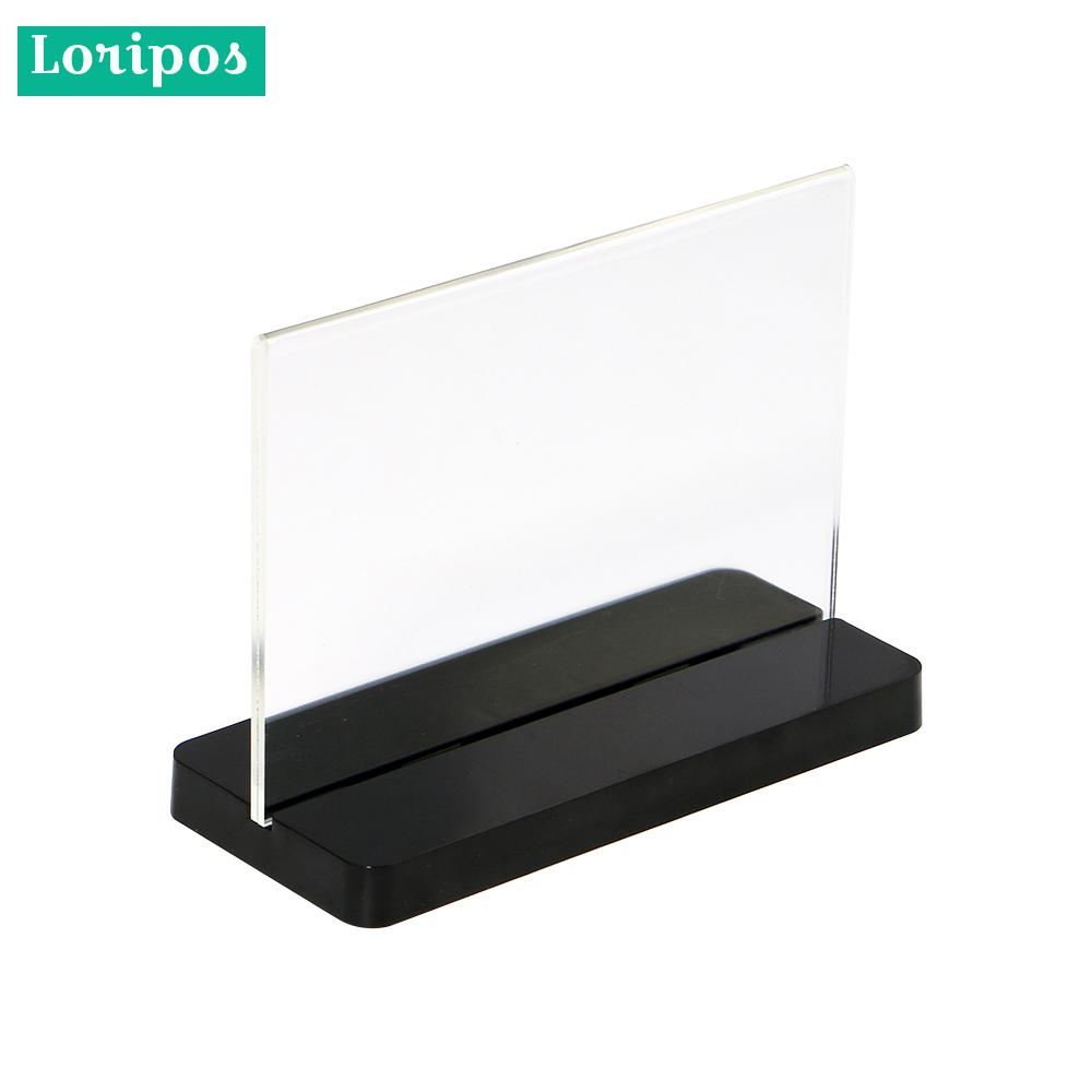 Acrylic Photo Frame A5 Label Holder Photo Frame Desk Sign Holder Menu Stand Plastic Picture Frame Advertising Menu Poster Frame Office & School Supplies