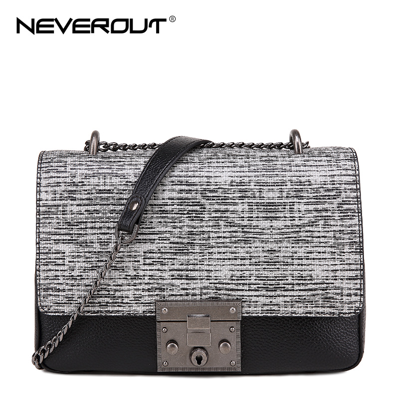 NeverOut Stone Pattern Flap Bag Genuine Leather Shoulder Bags for Women Fashion Messenger Bag High Quality Women Crossbody Bags neverout new crossbody handbag women messenger bag cover small flap bags fashion shoulder bags simply style genuine leather bag