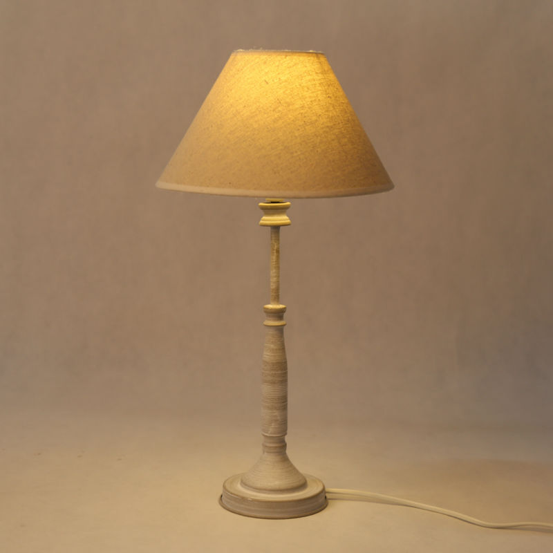 Commercial Table Lamps: 4SETS E14 Holder Table Lamp Beige Gray Indoor Lights For