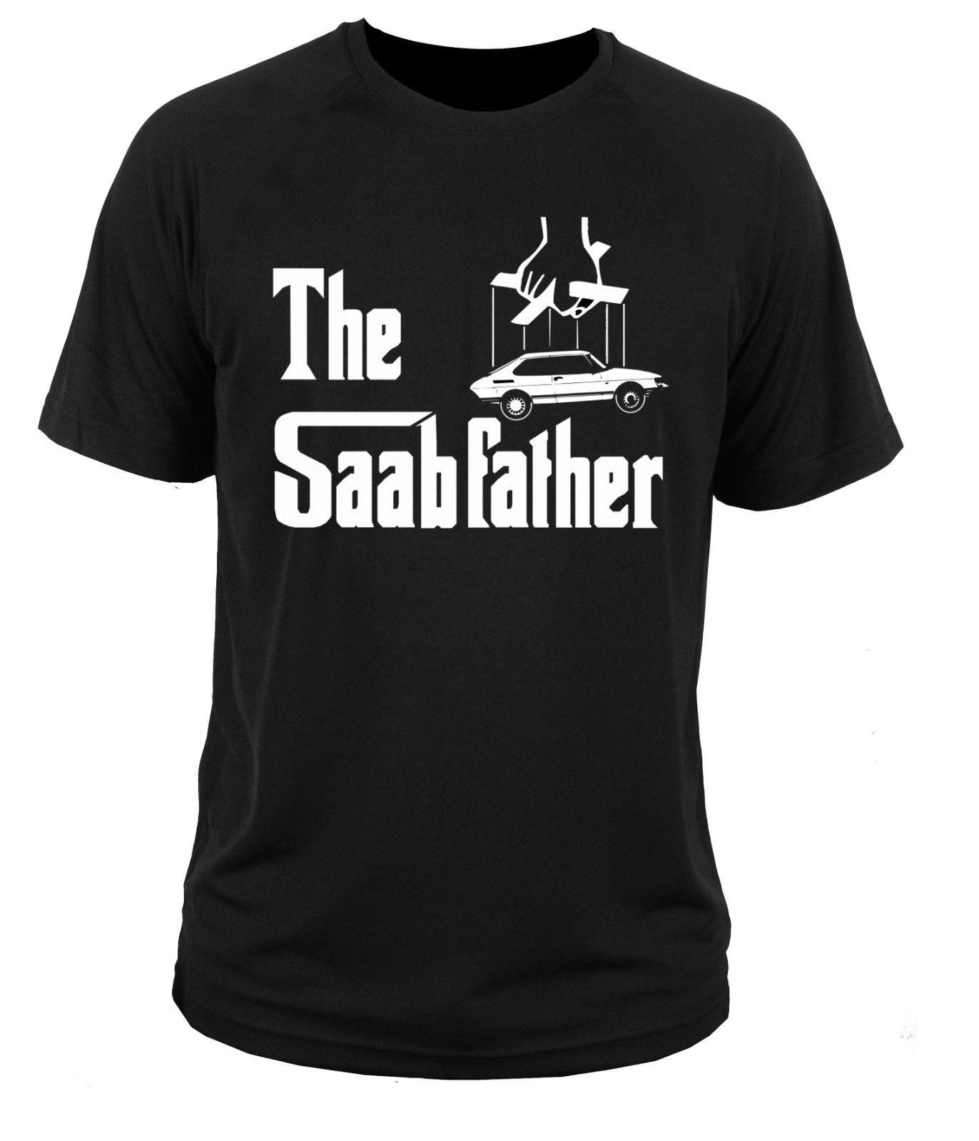 2018 New Cool Tee Shirt T Shirt T-shirt Car Saab 900  Turbo Aero 9-3 9-5 The Saabfather