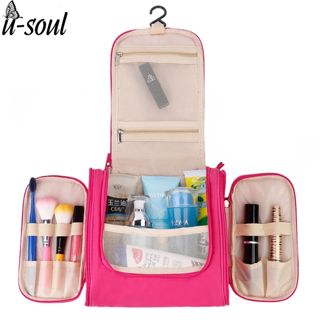 Unisex Women Cosmetic Bag Hanging Travel Makeup Bag