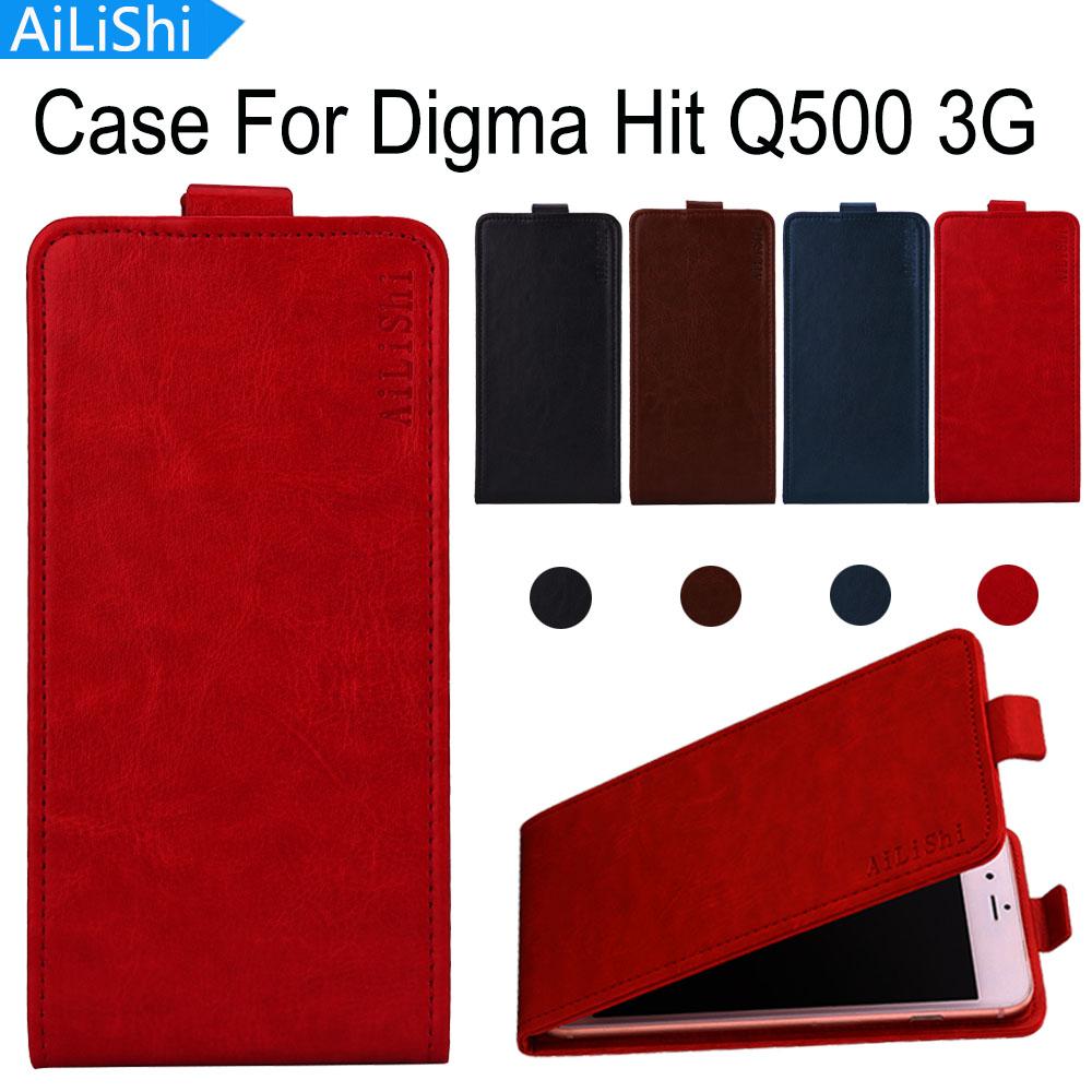 AiLiShi Factory Direct! Case For Digma Hit Q500 3G Luxury Flip Leather Case Exclusive 100% Special Phone Cover Skin+Tracking