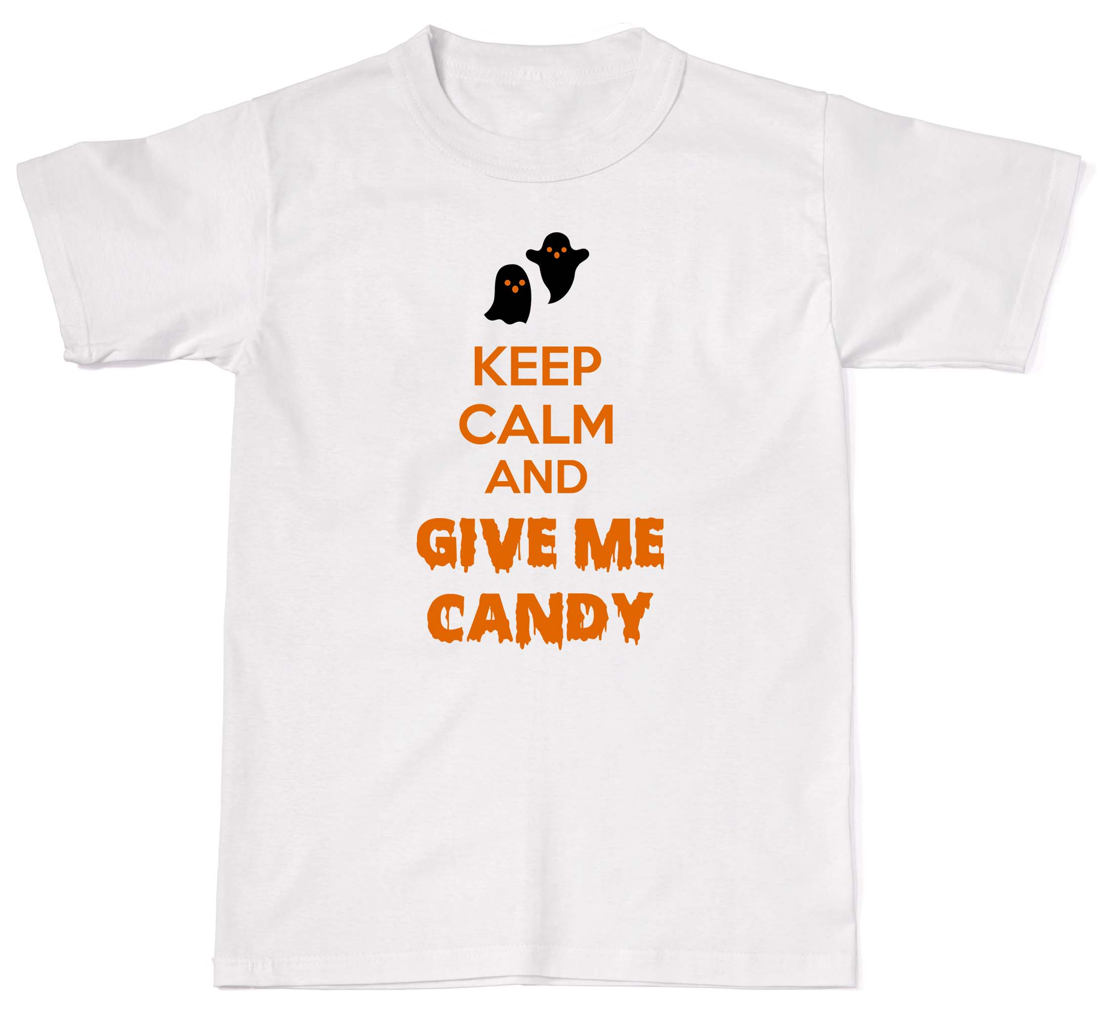 2018 Summer Fashion Men O-Neck T Shirt Keep Calm And Give Me The Candy Funny Halloween Mens Womens Cotton T-Shirt T shi
