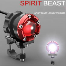 SPIRIT BEAST Motorcycle Decorative Lighting Accessories Headlight 48V Headlamps LED Super Bright Auxiliary Lights все цены