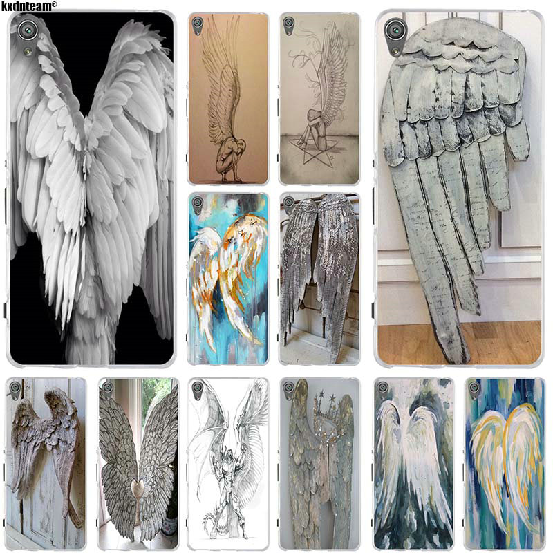 Fashion New Supernatural Angel Wing Silicone Soft TPU Phone Case For Sony Xperia Z Z1 Z2 Z3 Z4 Z5 Compact Mini M2 M4 M5 E3 E5 T3