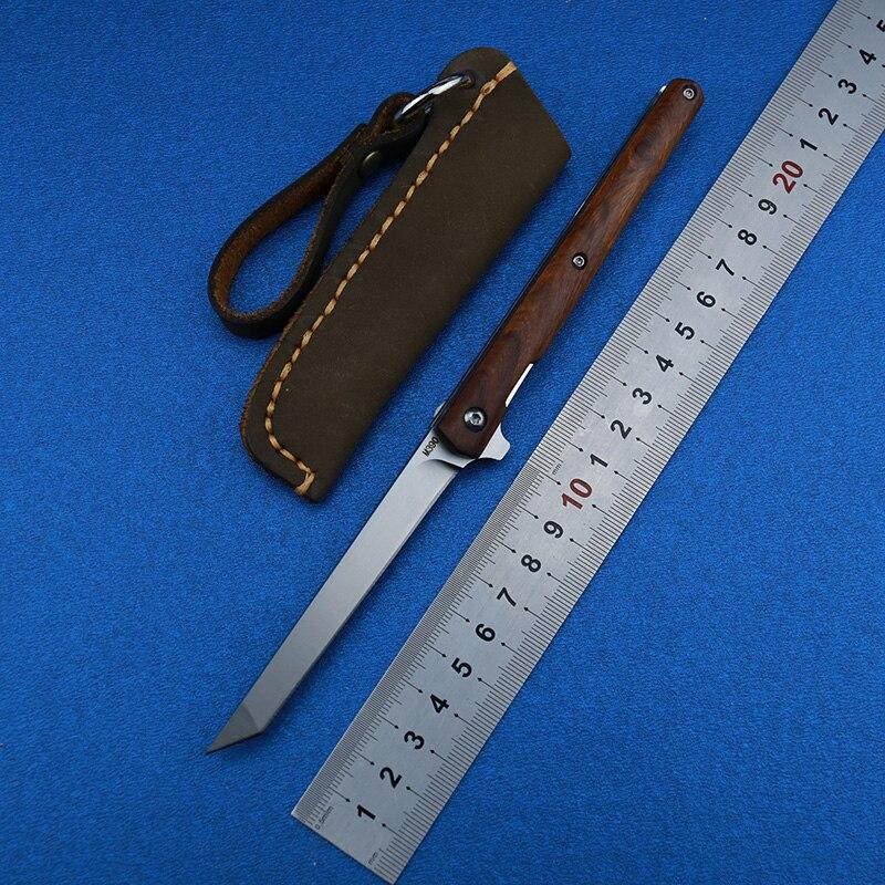 Petit stylo rabat couteau pliant roulement à billes M390 lame américaine sable fer poignée camping en plein air multi-usages chasse EDC outil