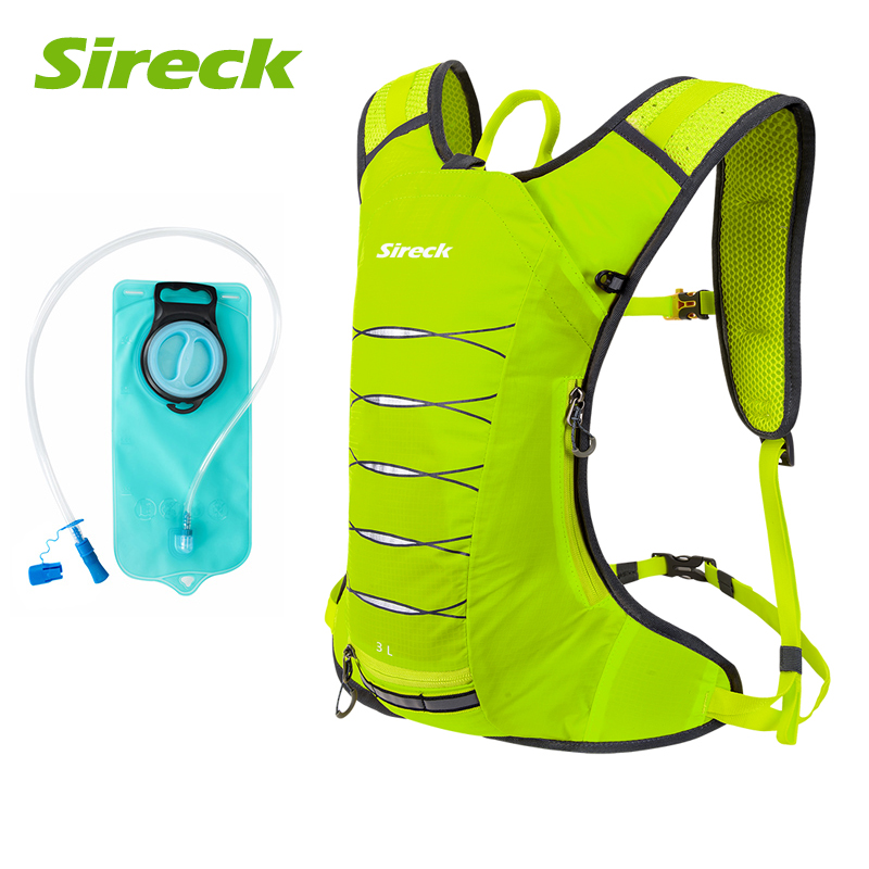 Sireck Bicycle Bag Outdoor Rucksack Cycling Backpack Sports Hiking Climbing Hydration +2L Water Bag Pouch MTB Bike Bag roswheel 22l ultralight cycling mountain bike bag hydration pack water backpack reflective bicycle bike hiking climbing pouch