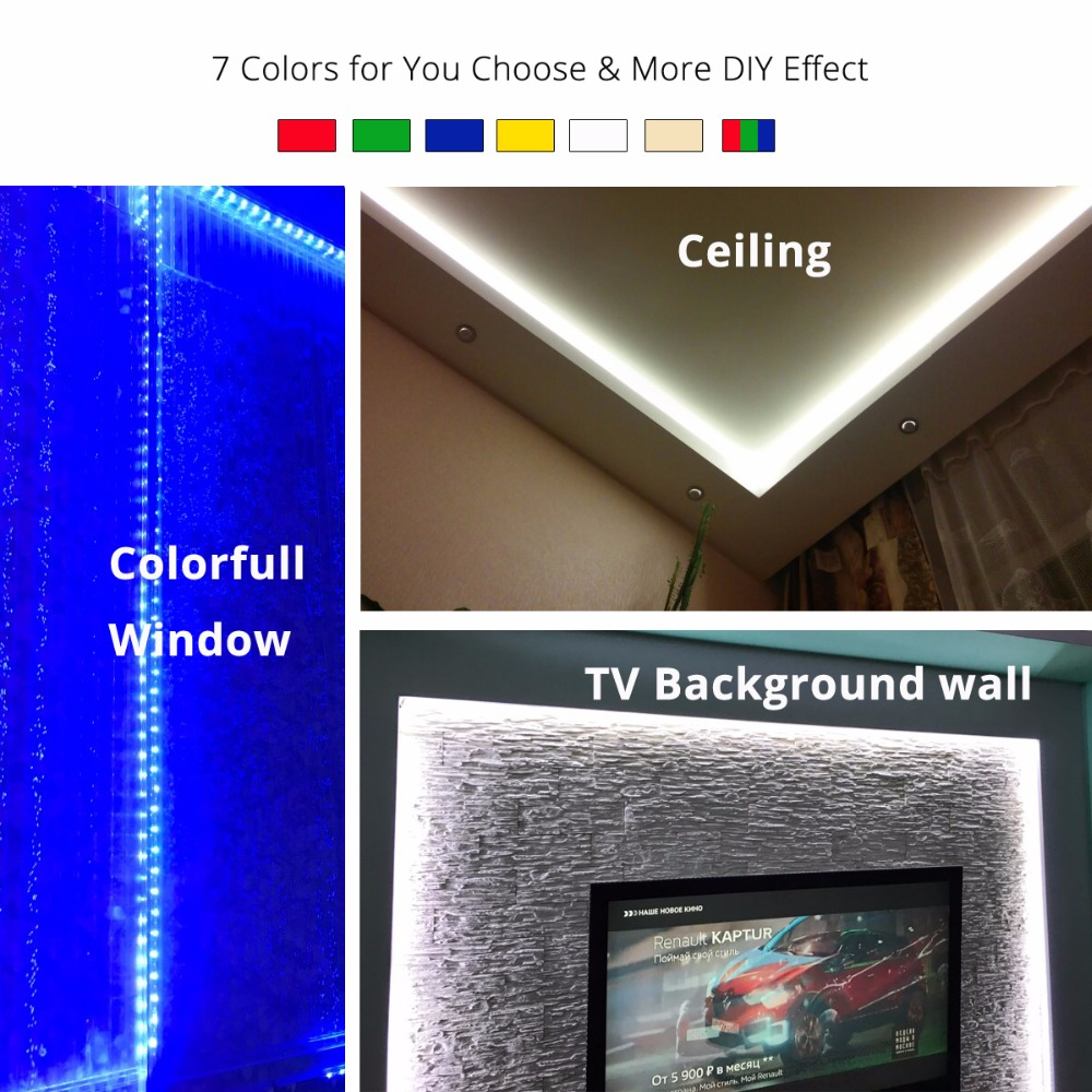 DC12V 5M LED Strip 5050 RGB, Luz flexible 5050 LED Strip No - Iluminación LED - foto 6