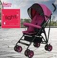 Carrinhos de Buggy carrinho de criança dobrável suspensão crianças de verão leve leve guarda-chuva carro carrinho de bebê