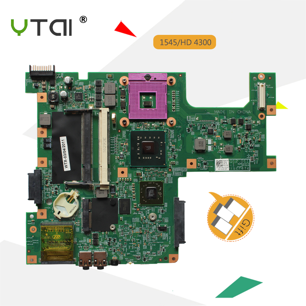 YTAI 15z 1545 48.4AQ12.011 Mianboard For Dell inspiron 15 1545 Laptop Motherboard 48.4AQ12.011 0H314N PM45 HD 4300 Mainboard for dell v3300 laptop motherboard mainboard 48 4ex01 011 100