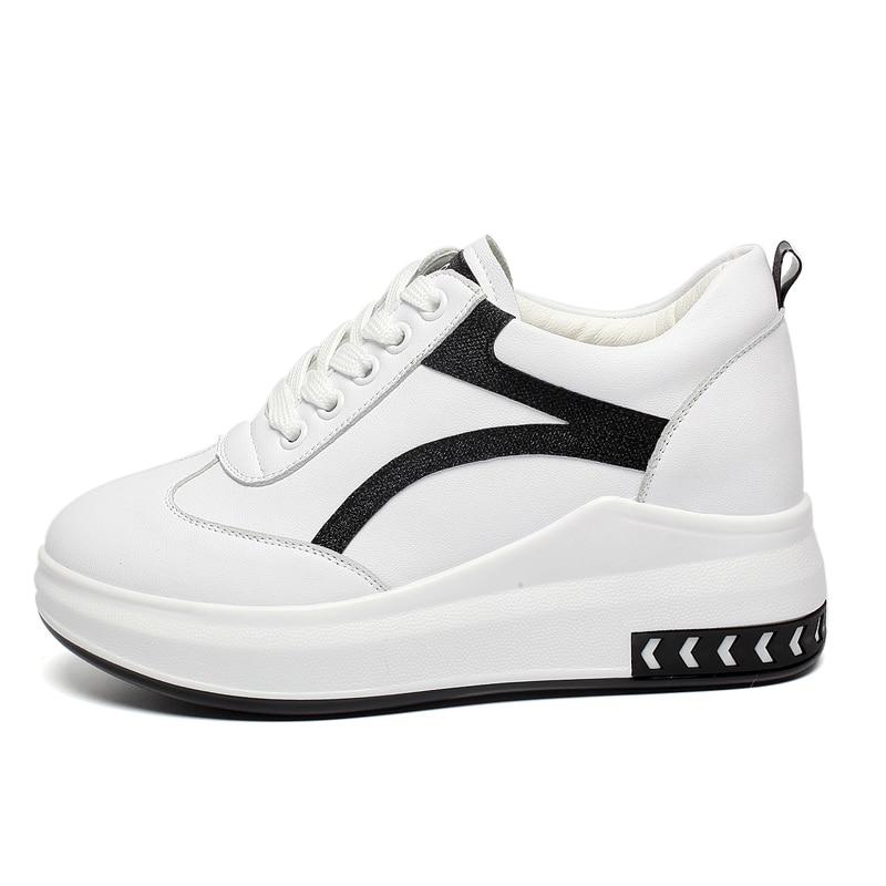 Black Caché Hauteur Chaussures Schoenen red Femmes Baskets Lx3 Cm 7 Blanc Talon Vrouw Tête Femme Sneakers green Ronde Coins Croissante p8xrpIwT