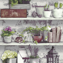 Rustic Botanical Bonsai Wall papers Home Decor Cement Paper Roll for Coffee Clothing shop Walls vinilos pared contact paper