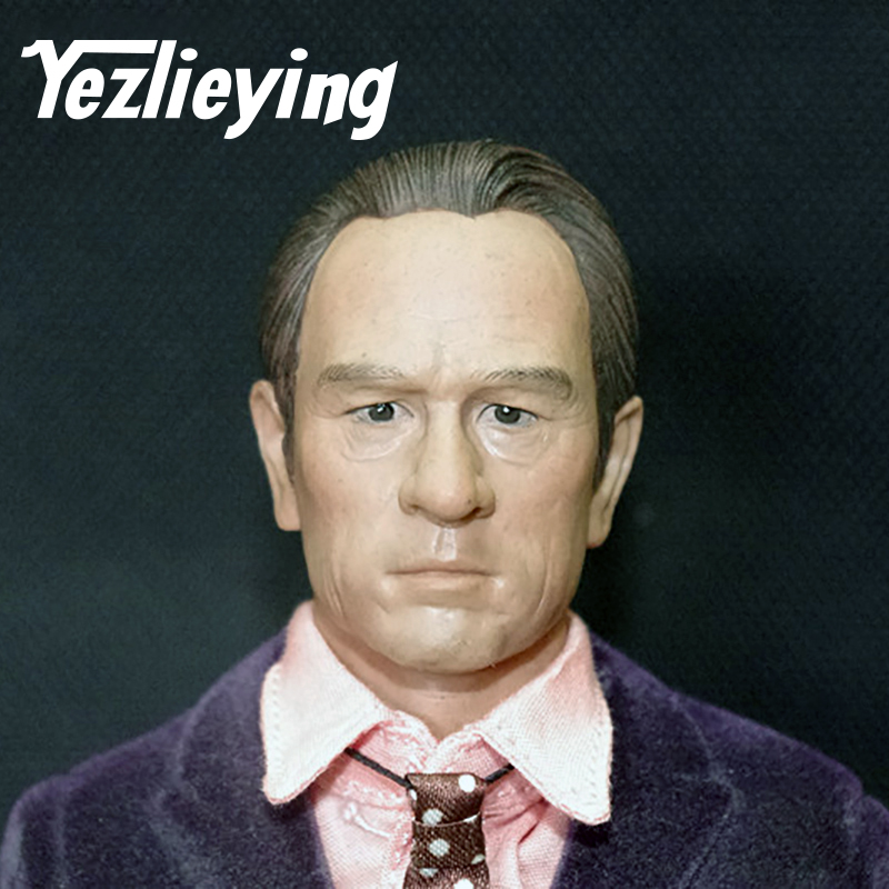 1/6 Male Headdress Tommy Lee Jones Male Military C-0020 Sculpture Model 12 Male Action Modeling Model