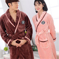 100% Coral Fleece 2017 Winter Couple Robe Sets Autumn Sleepwear Robes girls night Homewear For Women Plus Size Nightgown Men