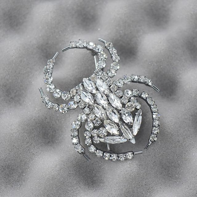 Фото изысканные модные ювелирные изделия стразы кристалл паук животные цена