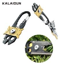 KALAIDUN набор гаечных ключей 20 в 1, многофункциональный мини универсальный набор ключей, набор для выживания из нержавеющей стали, комбинация 1/2 1/4 3/8, шестигранный гаечный ключ