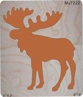 Christmas deer Wooden dies MY// Scrabooking