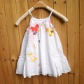Catimini Dress for girls vestidos infantis Girls 3D Flower Dress Children white Beach Dress reine des neiges summer slip dress 5