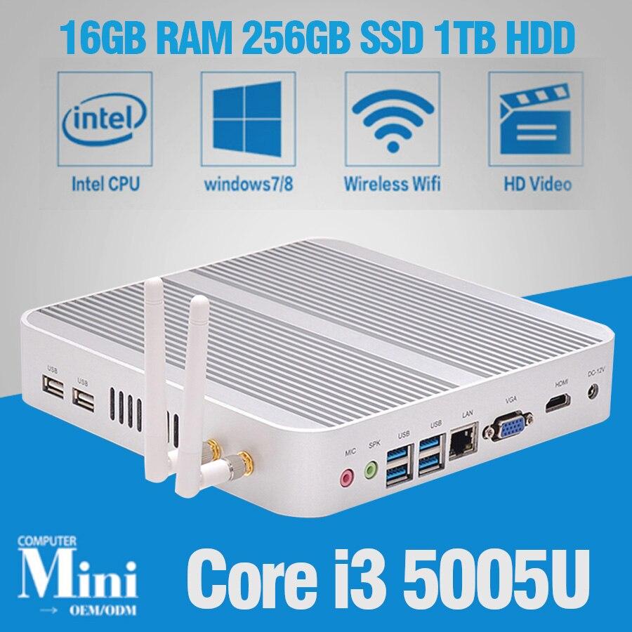 hot new minipc windows 10 intel core i3 5005u minicomputers with wifi bluetooth mini pc desktop. Black Bedroom Furniture Sets. Home Design Ideas