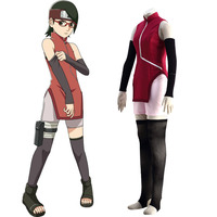 High Quality Stock Japanese Anime Boruto Naruto the Movie Uchiha Sarada Cosplay Costume For Women Halloween Christmas