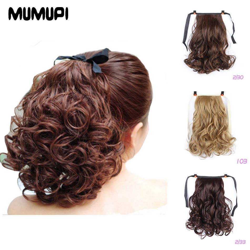 MUMUPI Fashion Curly Hairpieces Ladies Girls Ponytail Claw Jaw Clip in Ponytail Hair Extensions Wavy Hair   headwear