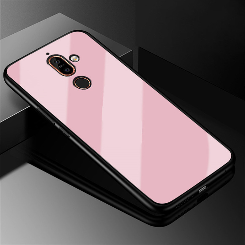 Tempered Glass Case For Nokia 7 Plus Plating For Nokia 7Plus Case Capa Coque 6.0 inch