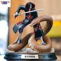 Naruto Disastrous Wind Akatsuki Orochimaru GK Resin Statue Action Figure Model Desktop Decoration X107