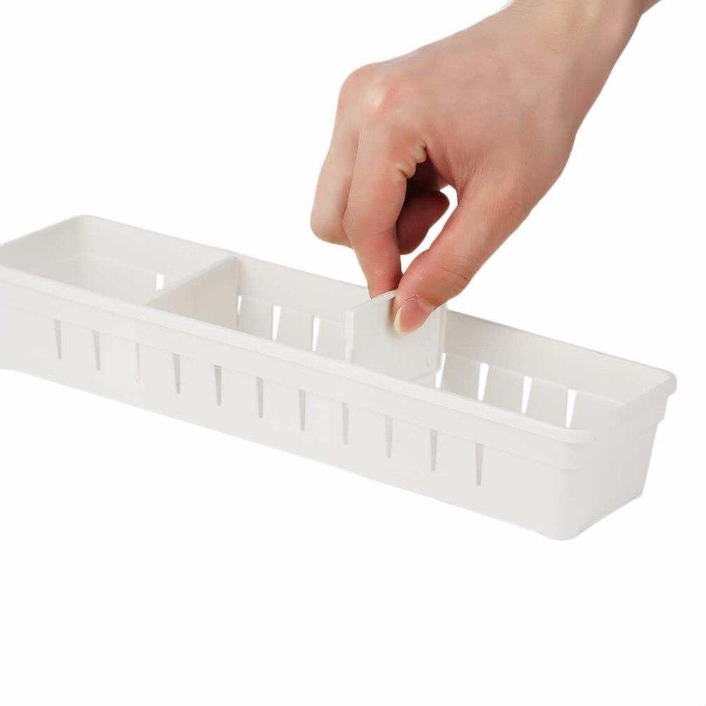 3 Farben Einstellbare Schublade Organizer Home Kitchen Board Kostenlose Divider Makeup Geschirr Aufbewahrungsbox Drop Shipping