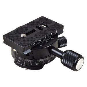 Image 2 - MENGS PAN 360 Gradi Alluminio Panoramica Panoramica Base Testa Treppiedi Morsetto + 1/4 Piastra A Sgancio Rapido per DSLR Camera e treppiede